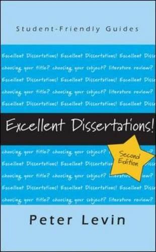 9780335238637: Excellent Dissertations!