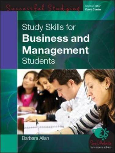 9780335239016: Study Skills for Business and Management Students