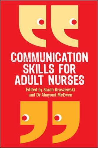 9780335239993: Communication Skills for Adult Nurses