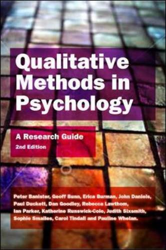 9780335243068: Qualitative Methods in Psychology