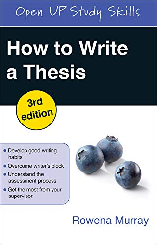 9780335244287: How to Write a Thesis (Open Up Study Skills)