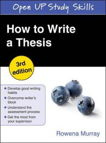 9780335244294: How to Write a Thesis