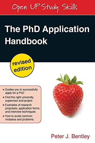 9780335246960: The PhD Application Handbook: Revised Edition (Open Up Study Skills)