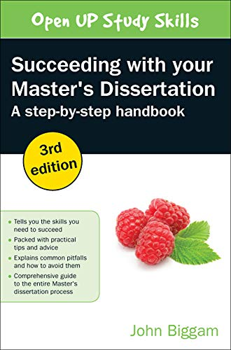 9780335264483: Succeeding With Your Master's Dissertation: A Step-By-Step Handbook (UK Higher Education OUP Humanities & Social Sciences Study S)