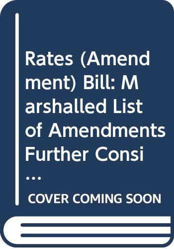 Rates (Amendment) Bill: Marshalled List of Amendments: Northern Ireland: Northern