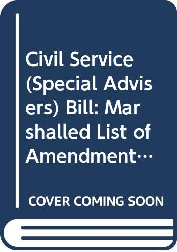 Civil Service (Special Advisers) Bill: Marshalled List: Northern Ireland: Northern