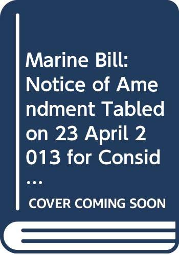 Marine Bill: Notice of Amendment Tabled on: Northern Ireland: Northern