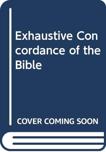 9780340007006: Exhaustive Concordance of the Bible