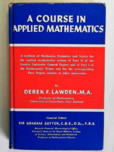 9780340045886: Course in Applied Mathematics: v. 1 (Physical Science Texts)