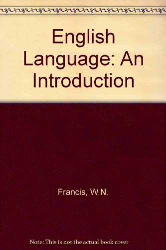 The English Language. An Introduction