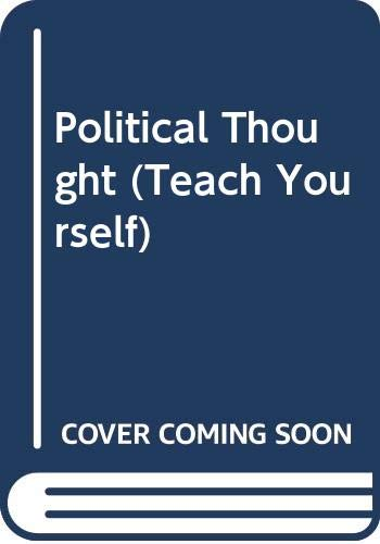 9780340056912: Political Thought (The Teach Yourself Books)