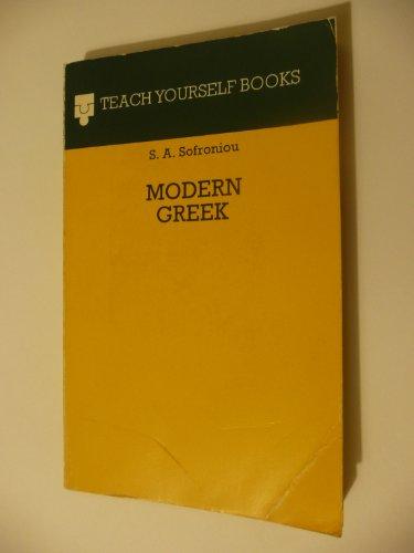 9780340058060: Modern Greek TY