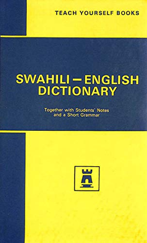 Concise Swahili and English Dictionary Together with students notes and a short grammar: Perrott, D...