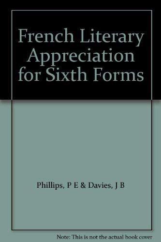 9780340066577: French Literary Appreciation for Sixth Forms
