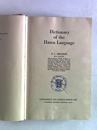 Dictionary of the Hausa Language: ABRAHAM, R.C.