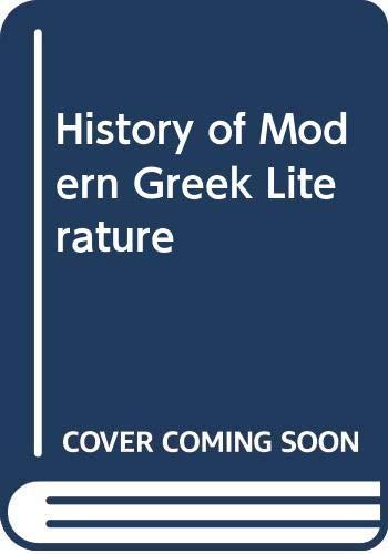 9780340171790: History of Modern Greek Literature
