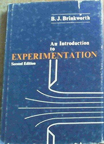 9780340180983: An Introduction to Experimentation