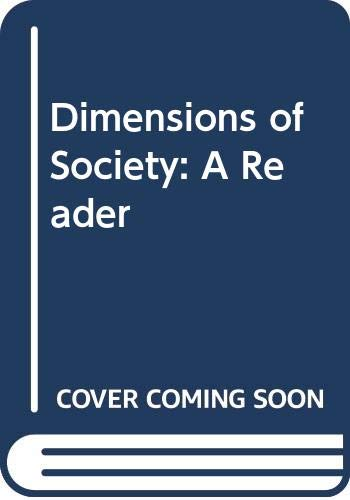 9780340193709: Dimensions of Society: A Reader