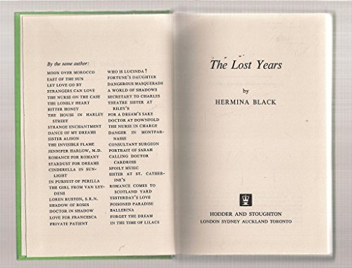 Lost Years (0340200227) by Hermina Black