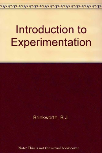 9780340231227: Introduction to Experimentation