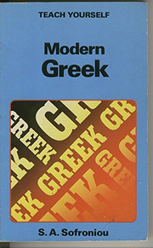 9780340264201: Modern Greek (Teach Yourself)