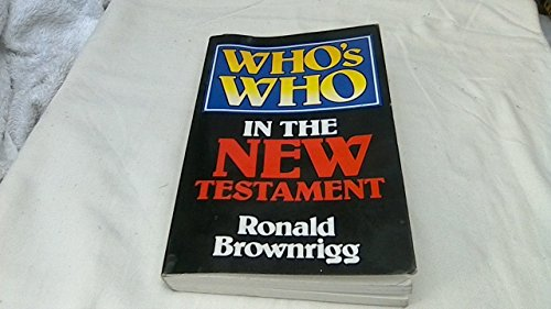 9780340271773: Who's Who in the New Testament