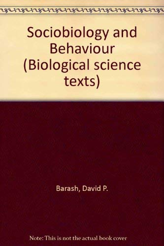 9780340284605: Sociobiology and Behavior