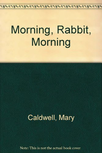 9780340348079: Morning, Rabbit, Morning