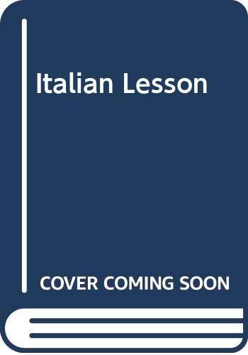 9780340372616: Italian Lesson