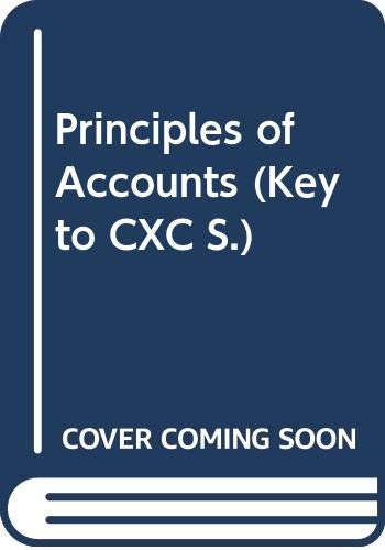 9780340385487: Principles of Accounts (Key to CXC)