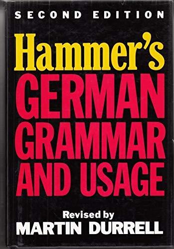 9780340501283: Hammer's German Grammar and Usage