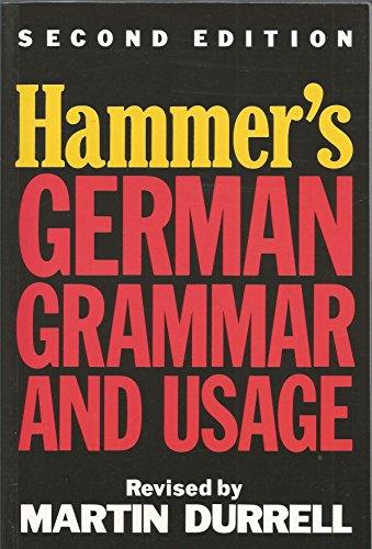 9780340501290: Hammer's German Grammar and Usage