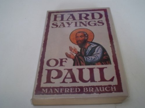 9780340529485: Hard Sayings of Paul