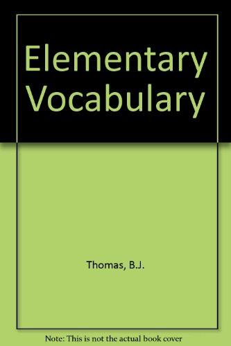 9780340529522: Elementary Vocabulary