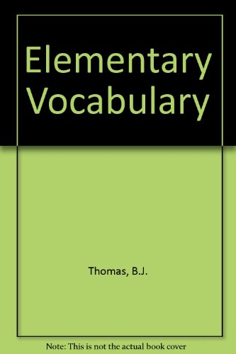 9780340529522: Elementary Vocabulary