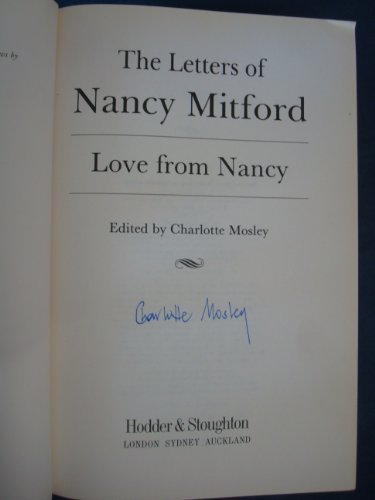 9780340537848: Love from Nancy: The Letters of Nancy Mitford