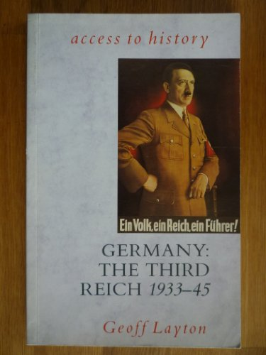 9780340538470: Germany: Third Reich, 1933-45 (Access to History)