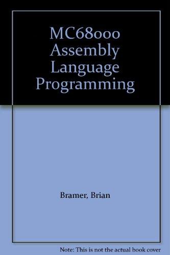 9780340544518: MC68000 Assembly Language Programming