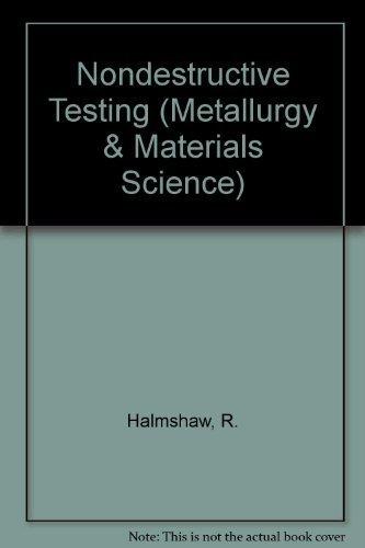 9780340545218: Non-Destructive Testing, Second Edition (Metallurgy & Materials Science)