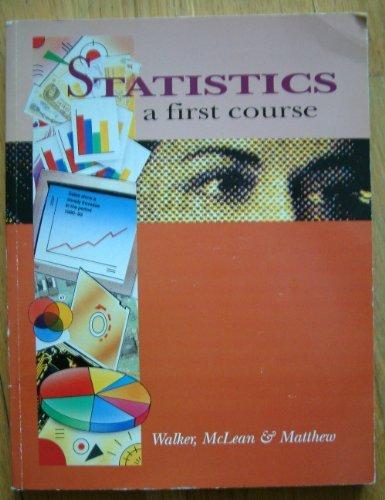 9780340552469: Statistics: a First Course