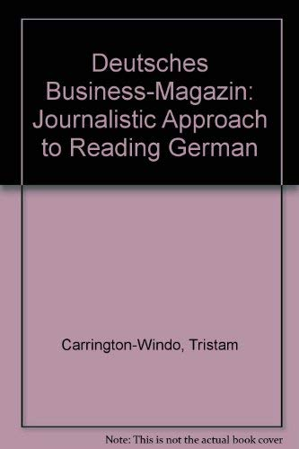 9780340555408: Deutsches Business-Magazin: Journalistic Approach to Reading German