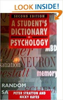 9780340569269: A Student's Dictionary of Psychology