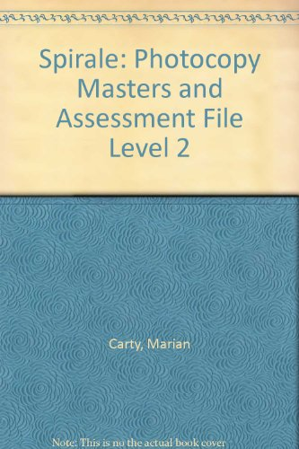 Spirale: Photocopy Masters and Assessment File Level 2 (0340587164) by Marian Carty; Jacqueline Jenkins; Barry Jones; Iain Mitchell