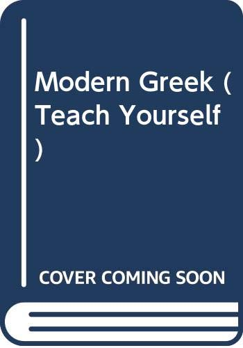 9780340588321: Modern Greek (Teach Yourself)