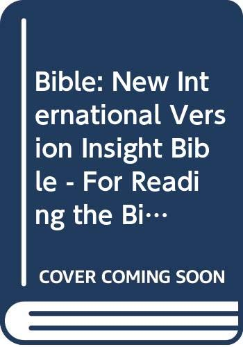 9780340589748: Bible: New International Version Insight Bible - For Reading the Bible Every Day