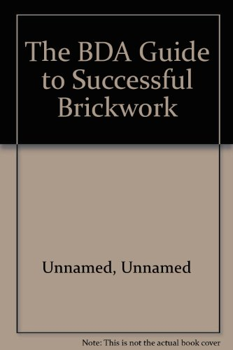 9780340592595: BDA Guide to Successful Brickwork