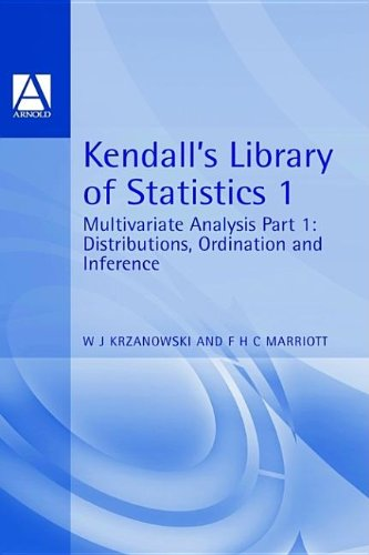 9780340593264: Multivariate Analysis: Part 1: Distributions, Ordination and Inference (Kendall's Library of Statistics) (v. 1)