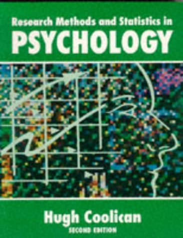 9780340600825: Research Methods and Statistics in Psychology