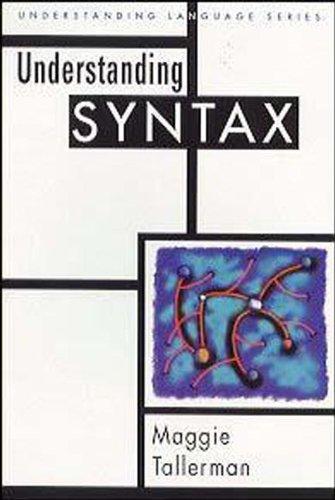 9780340603772: Understanding Syntax (Understanding Language)