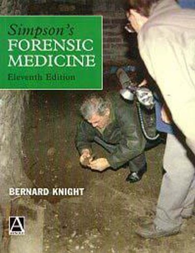 Simpson's Forensic Medicine, 11Ed (034061370X) by Knight, Bernard